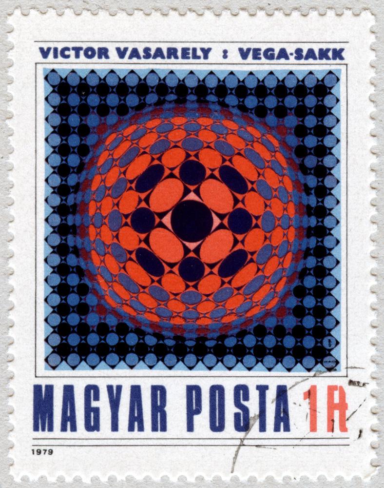 Victor Vasarely. Ajedrez-Vega. Arte moderna. Hungría 1979.