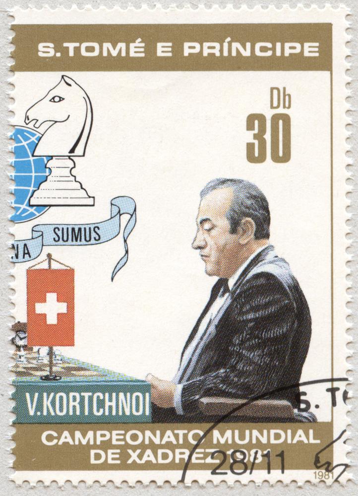 Viktor Korchnoi. Campeonato Mundial de Ajedrez 1981. Santo Tomé y Príncipe 1981.