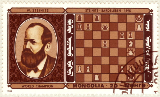 Wilhelm Steinitz. Steinits - Bardeleben 1895. Mongolia 1986.