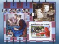 Estampillas con el ajedrez en el arte