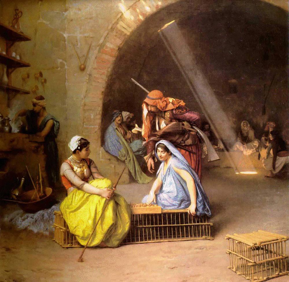 Alma, jugando ajedrez. Jean-Léon Gérôme. 1870.