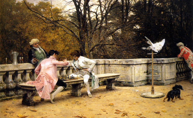 La partida de ajedrez. Charles Bargue. 1860–1883.