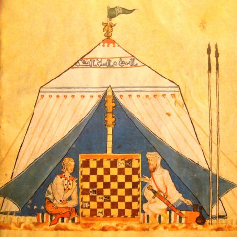 Christian y Moor jugando ajedrez. El Libro de los Juegos. 1251/1283.