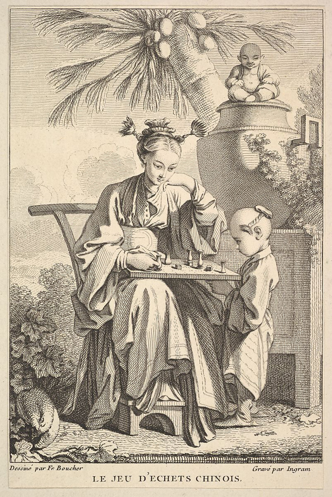 El juego de ajedrez chino. John Ingram. 1741/1763.
