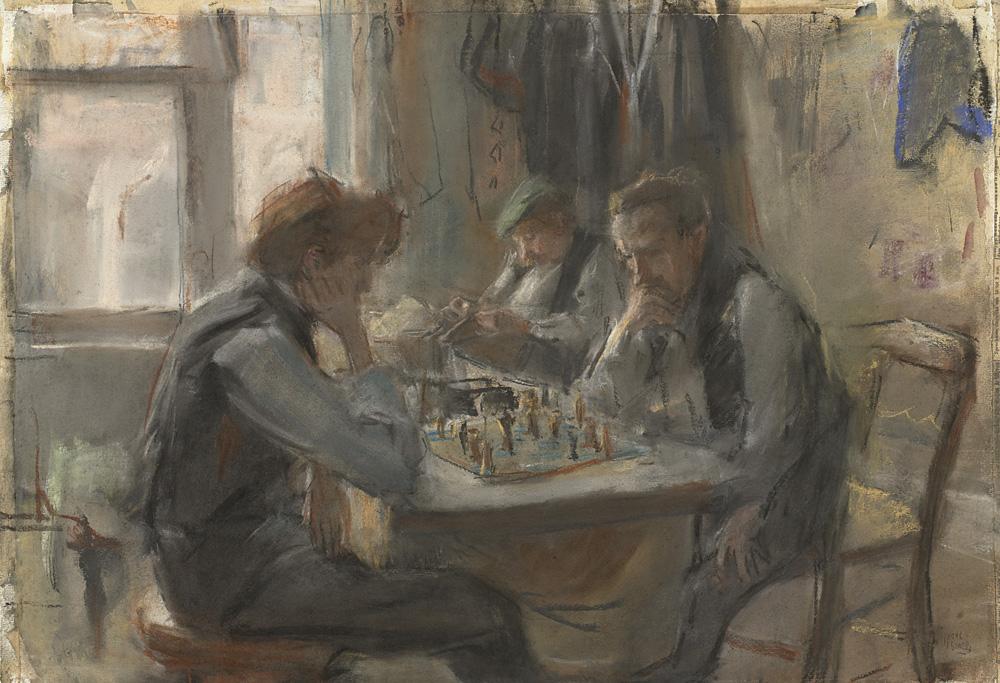 Los jugadores de ajedrez. Isaac Israëls. 1875/1922.