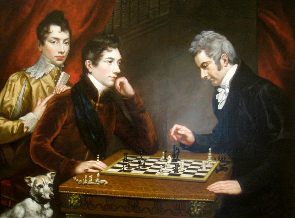 Jugadores de ajedrez. James Northcote. 1831.