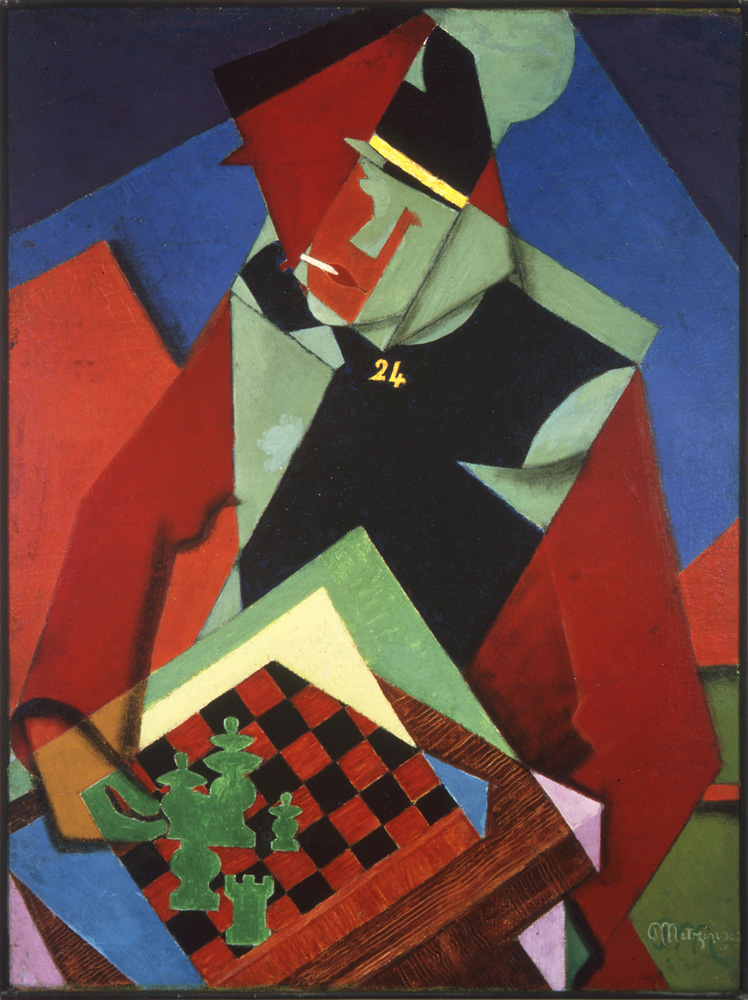 Soldado jugando ajedrez. Jean Metzinger. 1915.