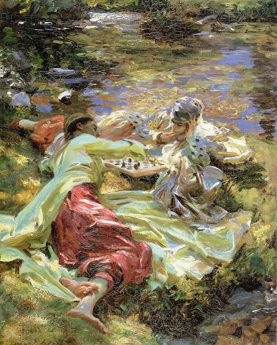 La partida de ajedrez. John Singer Sargent. 1907.