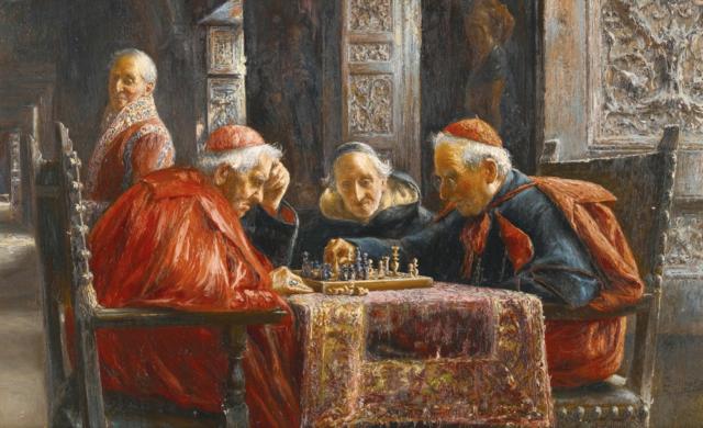 Juego de ajedrez. José Gallegos y Arnosa. 1910.