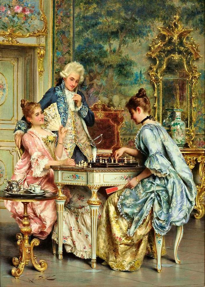 Juego de ajedrez. Arturo Ricci. 1884/1919.