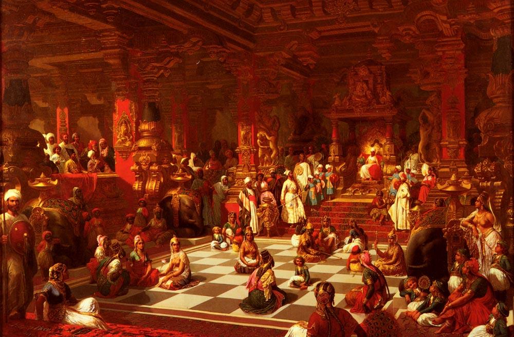Juego de ajedrez indio. Henri-Pierre Picou. 1876.
