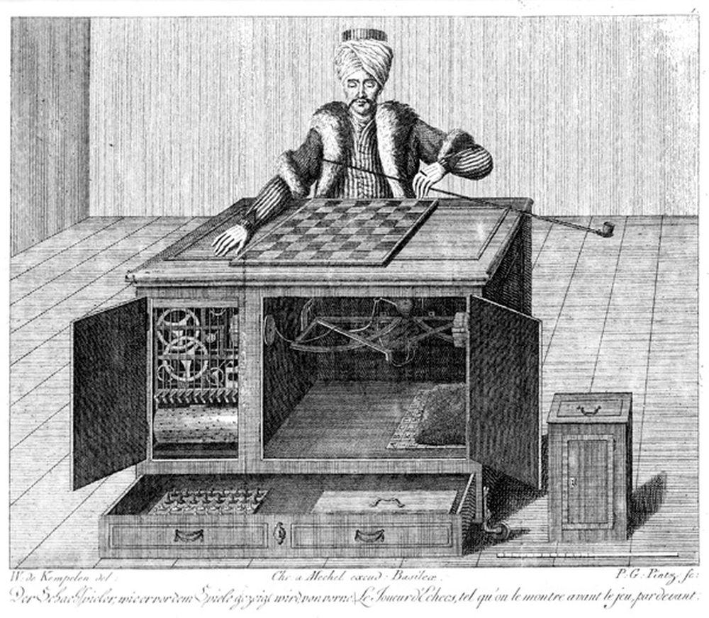 Wolfgang von Kempelen. El jugador de ajedrez turco. Karl Gottlieb von Windisch. 1783.