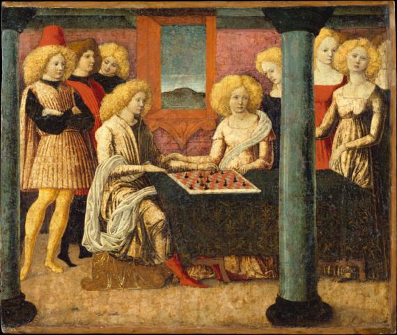 Las jugadoras de ajedrez. Liberale da Verona. 1475.