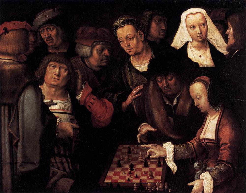 La partida de ajedrez. Lucas van Leyden. 1508.