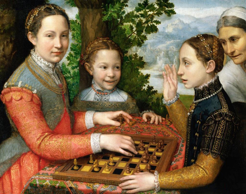 La partida de ajedrez. Sofonisba Anguissola. 1625.