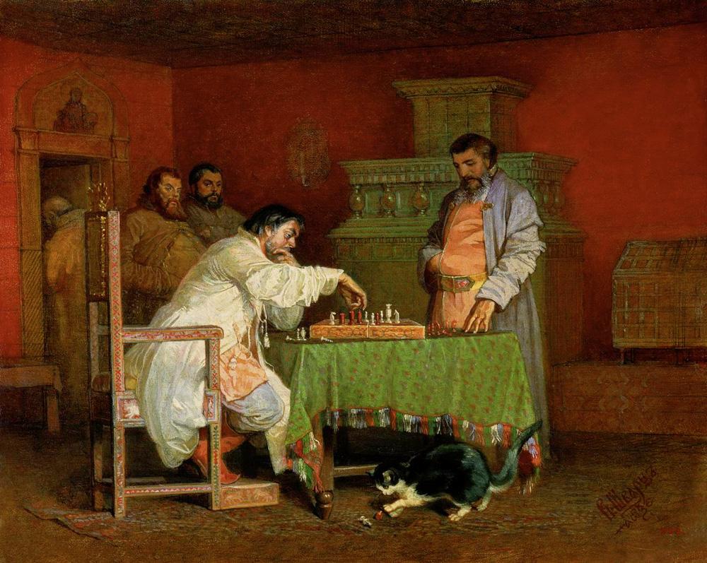 Estudio de la vida de los zares rusos. Vyacheslav Schwarz. 1865.