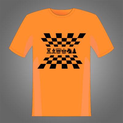 Diseño de perspectiva de piezas y tablero para estampar sobre camisetas