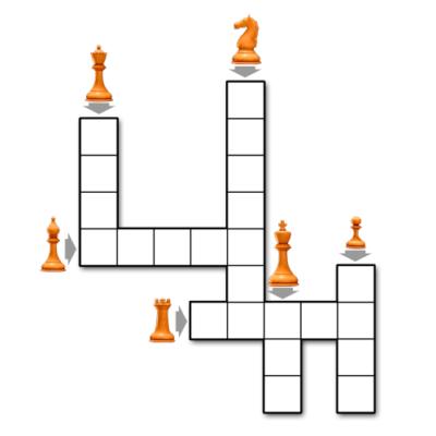 Crucigrama de las piezas de ajedrez para imprimir