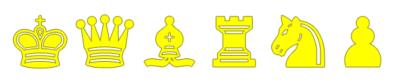 Piezas de Ajedrez amarillas para imprimir