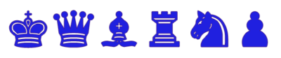 Piezas de Ajedrez azules para imprimir