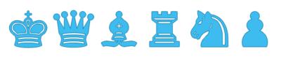 Piezas de Ajedrez celestes para imprimir