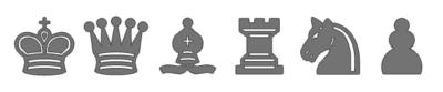 Piezas de Ajedrez grises para imprimir