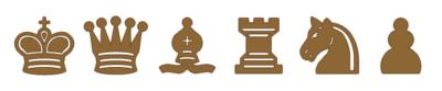 Piezas de Ajedrez marrón para imprimir