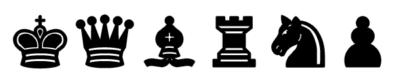 Piezas de Ajedrez negras para imprimir