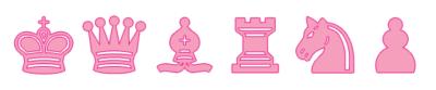 Piezas de Ajedrez rosadas para imprimir