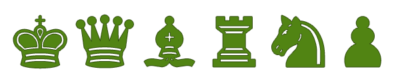 Piezas de Ajedrez verde oliva para imprimir