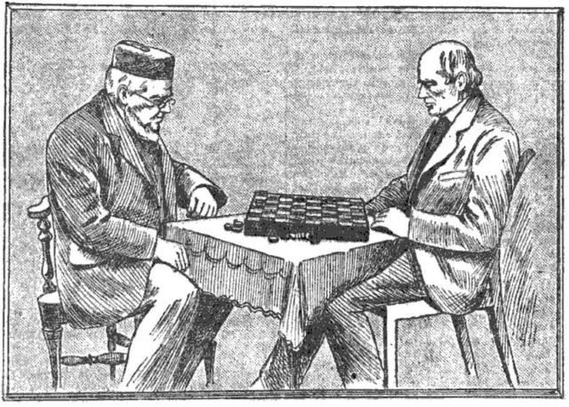 James Wyllie y Robert Martins jugando Damas - 1899