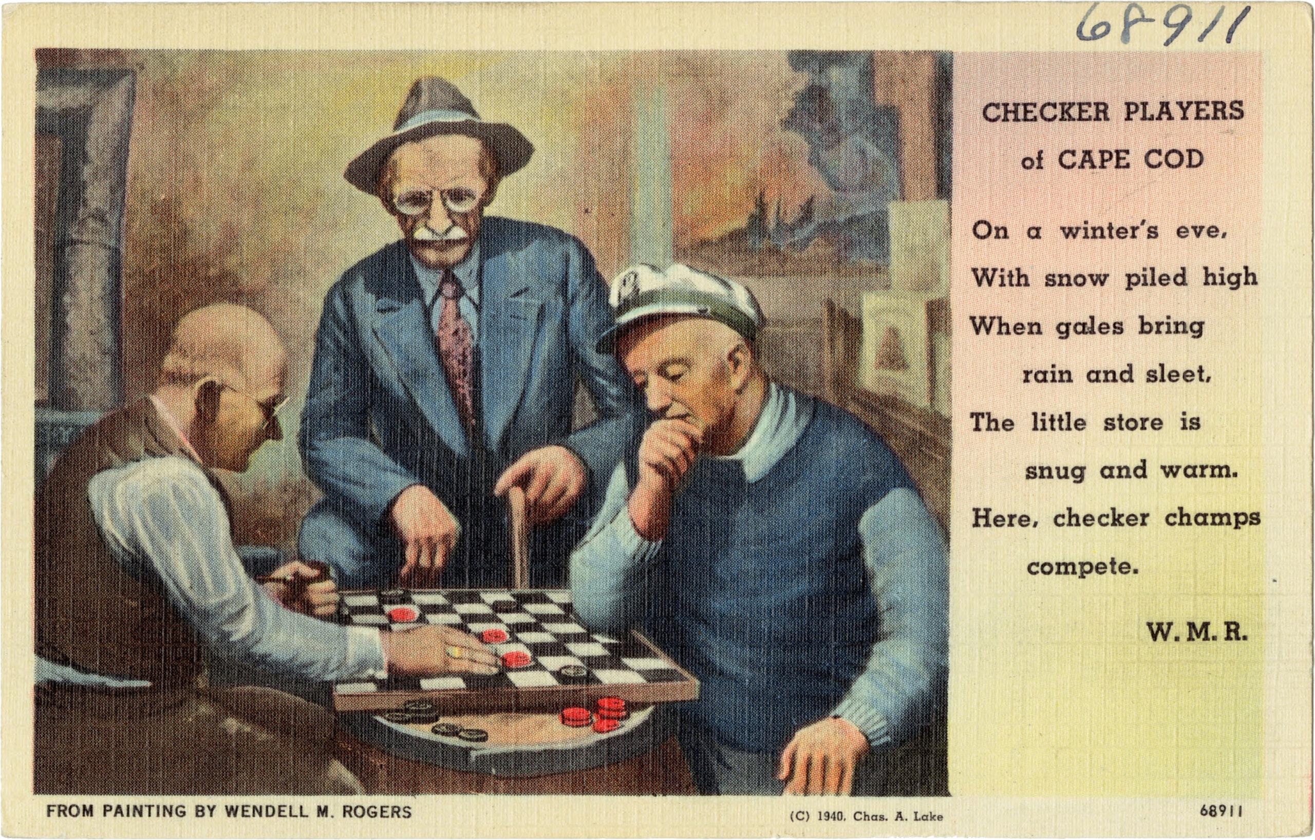 Jugadores de damas de Cape Cod - 1940