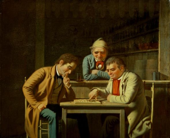 Los Jugadores de Damas - George Caleb Bingham - 1850
