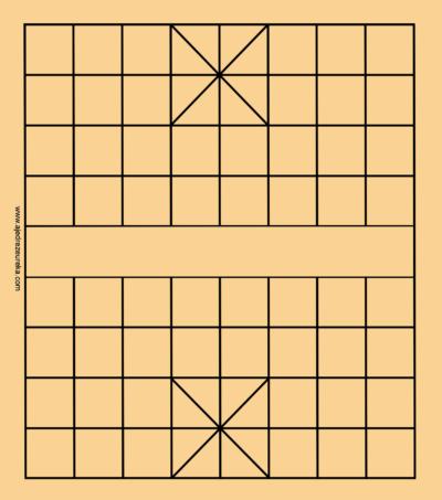 Tablero de Xiangqi para imprimir