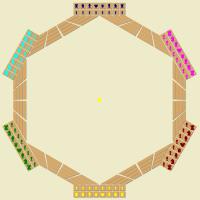 Juego de ajedrez para seis jugadores