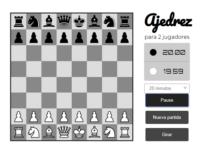 Juego de ajedrez con reloj