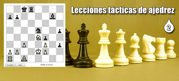 Lecciones tácticas de ajedrez 2